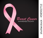 breast cancer awareness pink... | Shutterstock .eps vector #458502712