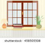 interior. window with... | Shutterstock .eps vector #458505508