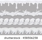 milk  whipped cream  sweet... | Shutterstock .eps vector #458506258