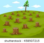 logs and large portions of a... | Shutterstock .eps vector #458507215