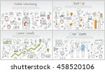 hand drawn business ideas... | Shutterstock .eps vector #458520106