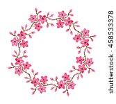 oriental cherry flowers. hand... | Shutterstock . vector #458533378