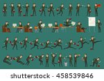 business man isolated set male... | Shutterstock . vector #458539846