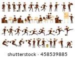 character positions set... | Shutterstock . vector #458539885