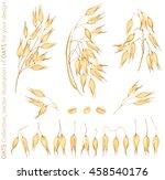 vector illustration oats...   Shutterstock .eps vector #458540176