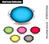 collection of oval icons with... | Shutterstock . vector #45854266