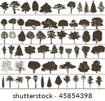 vector trees | Shutterstock .eps vector #45854398