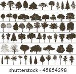 vector trees | Shutterstock .eps vector #45854398