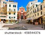 Corfu Town Main Square. Kerkyr...