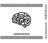 web line icon. human brain | Shutterstock .eps vector #458548162