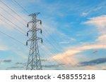 high voltage post.high voltage... | Shutterstock . vector #458555218