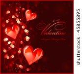 dark red valentines background... | Shutterstock .eps vector #45855895