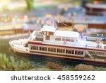 City In Miniature. Ship Near...