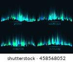 neon city skyline sydney ... | Shutterstock .eps vector #458568052