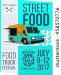 food truck festival food... | Shutterstock .eps vector #458570776