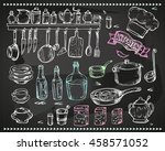 vector graphics  artistic set... | Shutterstock .eps vector #458571052