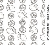 seamless pattern of lemons on... | Shutterstock .eps vector #458572282