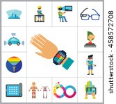 technology of future icon set | Shutterstock .eps vector #458572708