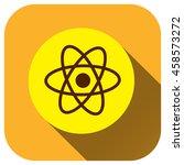 atom icon  vector logo for your ...