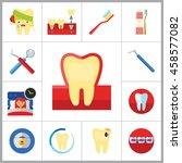 dental icon set | Shutterstock .eps vector #458577082
