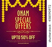 onam special offers sale with... | Shutterstock .eps vector #458590972