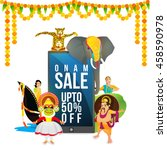 onam sale with upto 50 ... | Shutterstock .eps vector #458590978
