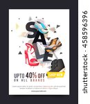 sale and discounts  sale poster ... | Shutterstock .eps vector #458596396