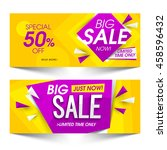 big sale with special offers... | Shutterstock .eps vector #458596432