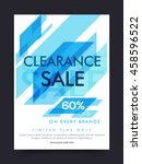 clearance sale poster  sale... | Shutterstock .eps vector #458596522