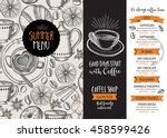 coffee restaurant brochure... | Shutterstock .eps vector #458599426