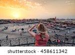 jamaa el fna market marrakech...   Shutterstock . vector #458611342