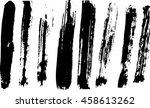 grunge brush strokes    | Shutterstock .eps vector #458613262