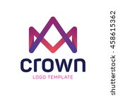 royal crown logo template | Shutterstock .eps vector #458615362