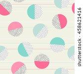 retro style texture  pattern... | Shutterstock . vector #458621416