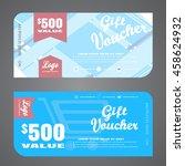blank of stylish gift voucher... | Shutterstock .eps vector #458624932