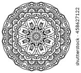 mandala for painting. vector... | Shutterstock .eps vector #458627122