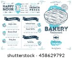 bakery menu design and bakery... | Shutterstock .eps vector #458629792
