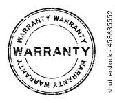 grunge black warranty round... | Shutterstock .eps vector #458635552