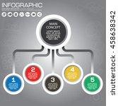 business management  strategy... | Shutterstock .eps vector #458638342