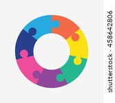 info template pie charts with 7 ... | Shutterstock .eps vector #458642806