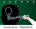 vector bulb of an idea of a... | Shutterstock .eps vector #458648392