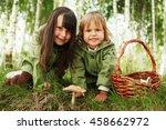 the children in forest. | Shutterstock . vector #458662972