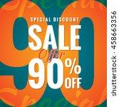 special discount sale 90... | Shutterstock .eps vector #458663356