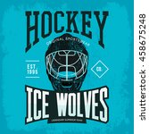ice or inline hockey goalkeeper ... | Shutterstock .eps vector #458675248