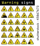 vector warning signs | Shutterstock .eps vector #45867673