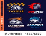 collection of logos car  taxi... | Shutterstock .eps vector #458676892