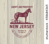 new jersey liberty and...   Shutterstock .eps vector #458684365