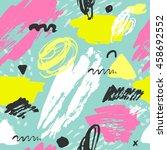 trendy vector seamless pattern... | Shutterstock .eps vector #458692552