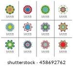 mandala round ornaments... | Shutterstock .eps vector #458692762