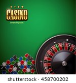 casino roulette wheel with... | Shutterstock .eps vector #458700202